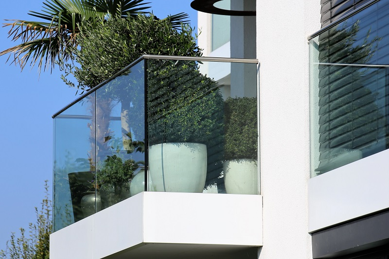 glass balustrade.