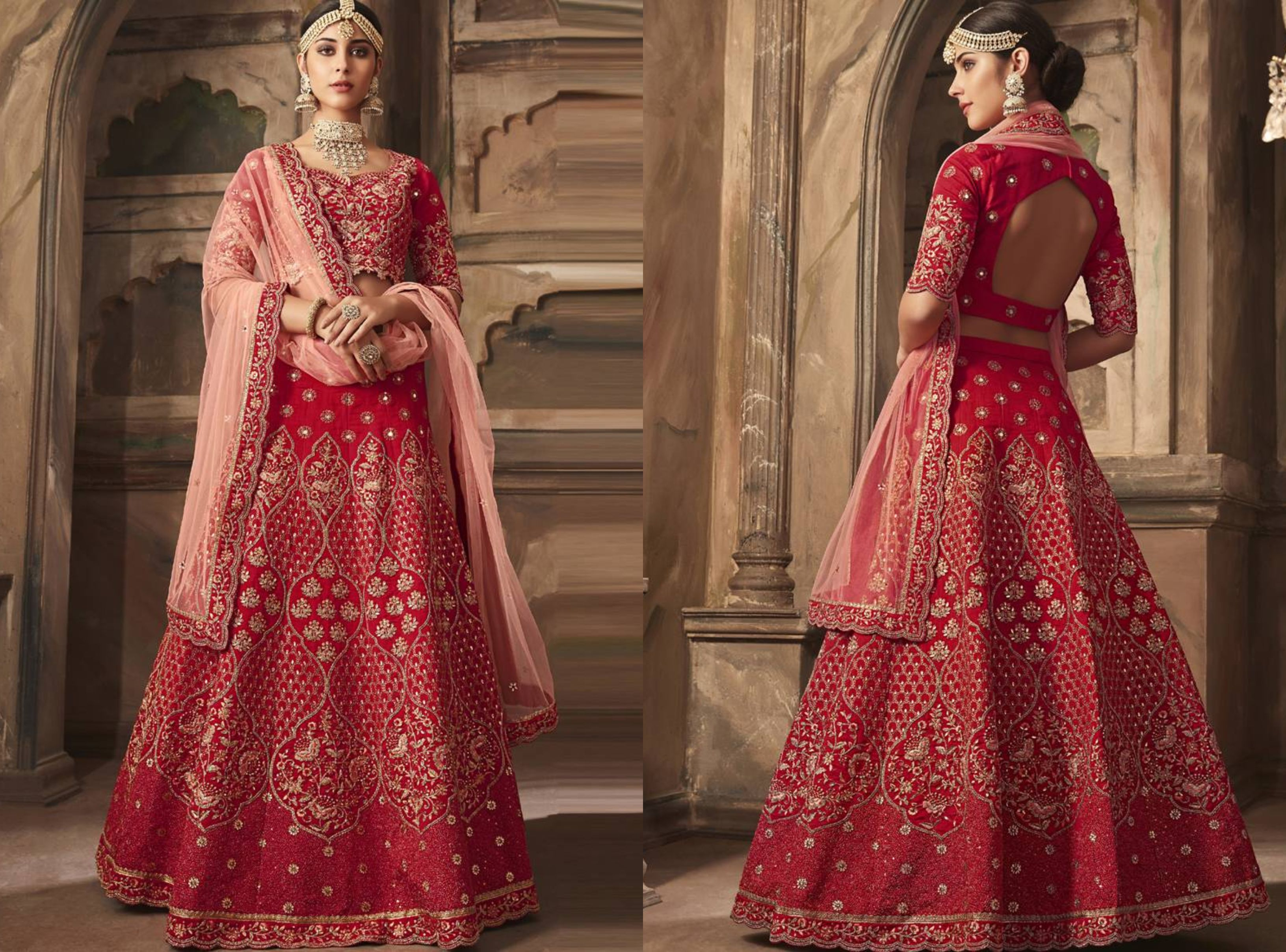 Bold And Backless Designer Lehengas
