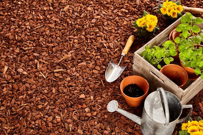 Garden-mulch